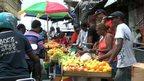 Market stalls in Mauritius