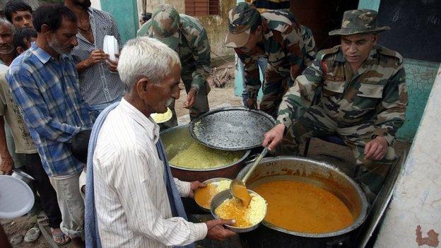 Relief camp in Jammu