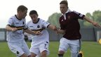 Dumbarton and Hearts players