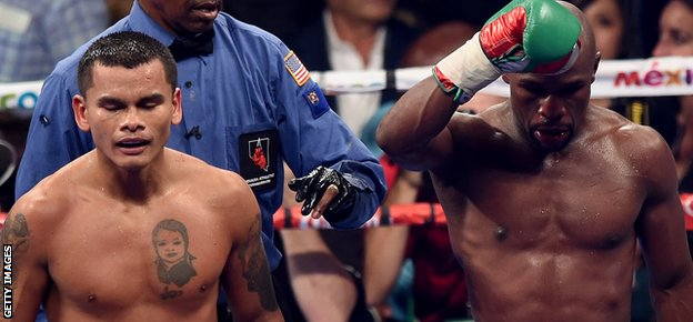 Floyd Mayweather versus Marcus Maidana
