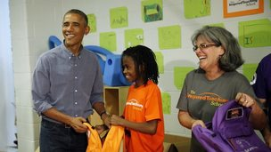 President Obama and young girl