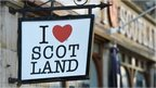 I love Scotland sign