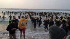 Challenge Weymouth triathlon starts on the seafront