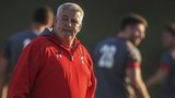 Warren Gatland oversees training