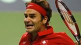 Switzerland's Roger Federer celebrates his win