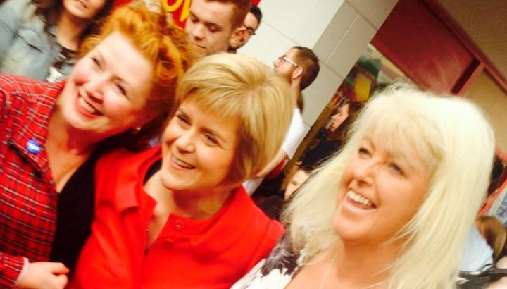 Nicola Sturgeon with Lesley Riddoch and Libby McArthur