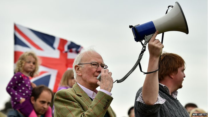 Sir Menzies Campbell in Edinburgh