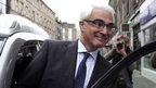Alistair Darling gets into his car in Edinburgh, September 14, 2014