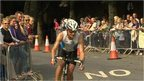 An ironman competitor