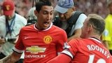 Angel Di Maria and Wayne Rooney