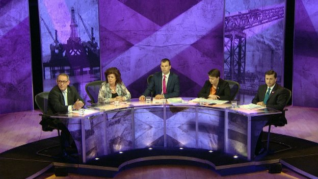 Referendum Debate panel in Stirling