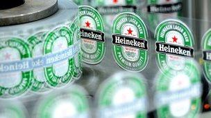 Heineken labels