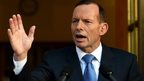 Australian PM Tony Abbott in file image from 31 August 2014