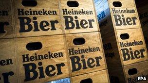 Heineken beer crates