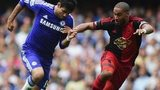 Ashley Williams in action against Cheslea's Diego Costa
