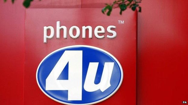 Phones4U facia