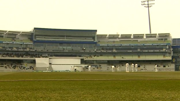 Cricket being played at Edgbaston
