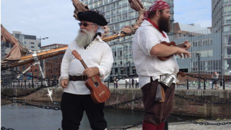 Pirates at the Albert Dock