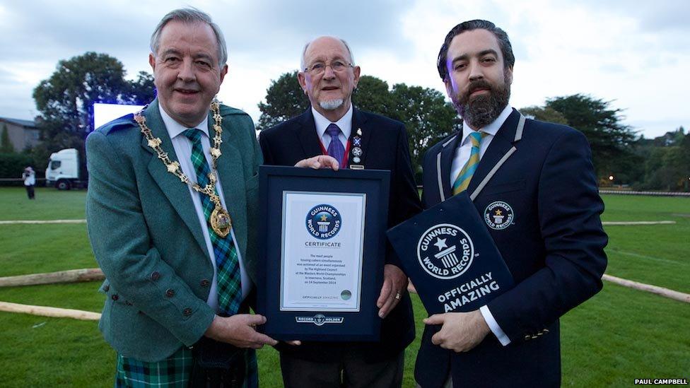 Caber tossing bid in Inverness