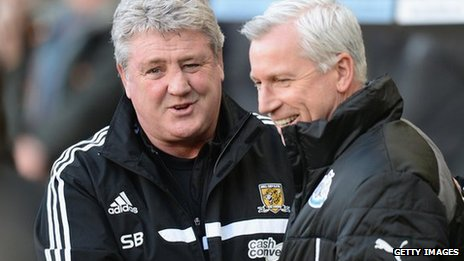 Steve Bruce, left, and Alan Pardew