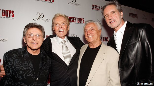 [L-R] Singer Frankie Valli, Crewe and singers singer Tommy Devito and Bob Gaudio