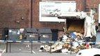 The scene at the Apollo Theatre on the A57 Hyde Road in Ardwick