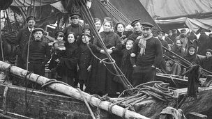 Refugees arriving at Folkestone