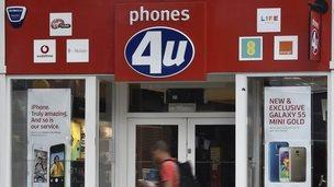 phones 4 U shopfront