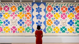 A work on display at Matisse: Cut-Outs at Tate Modern