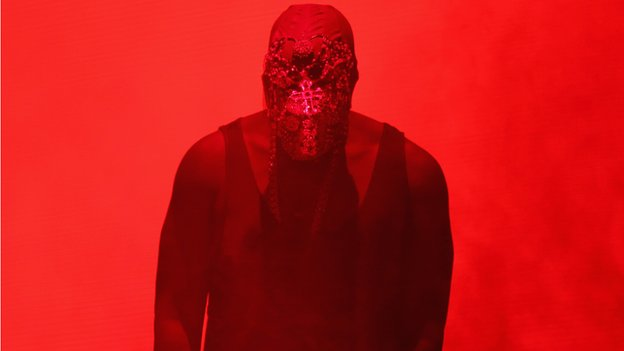Kanye Weston stage for his Yeezus tour