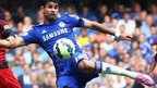Diego Costa takes a shot.