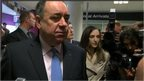 Alex Salmond at Edinburgh Airport