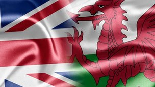 Union and Welsh flag