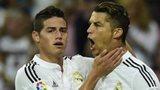 James Rodriguez and Cristiano Ronaldo