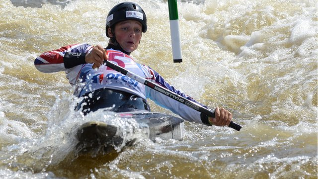 GB's Mallory Franklin competes in the C1 Women at the 2013 World Championships