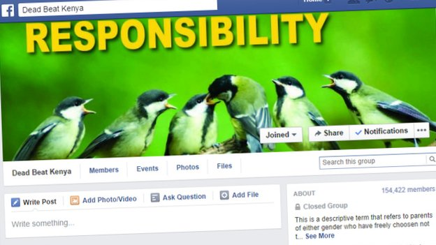 A screengrab of the Dead Beat Kenya Facebook page showing an adult bird feeding its young