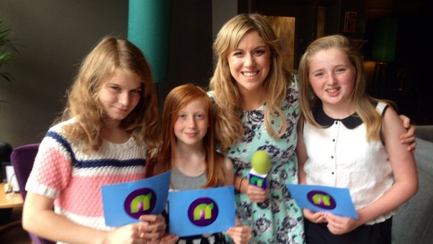 Jenny with Newsround viewers