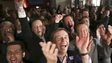 AfD party and leader Bernd Lucke celebrate in Potsdam (14 Sept)