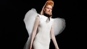 A model in Jean Paul Gaultier's 2014 winter collection