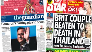 Composite of Guardian and Star front pages
