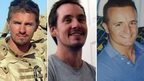 Cpl James Dunsby, L/Cpl Edward Maher and L/Cpl Craig Roberts