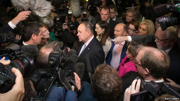 Alex Salmond media scrum