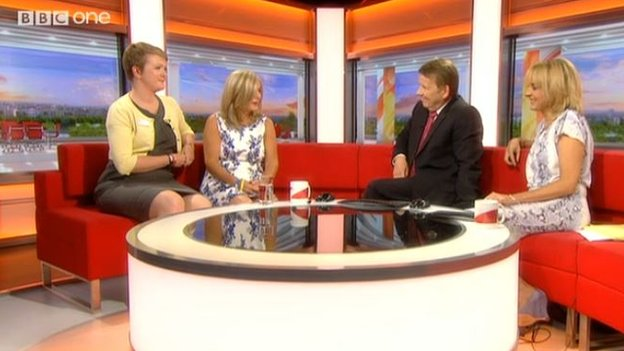 Stephen Sutton's mum, Jane, and Kate Cummins from the Teenage Cancer Trust on BBC Breakfast