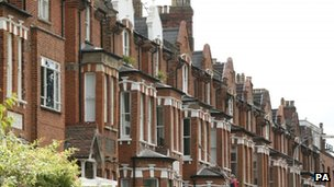 A view of houses in north London