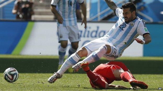 """Argentina""""s Ezequiel Lavezzi"""