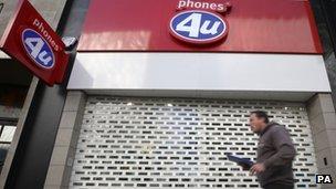 Phones 4U shop