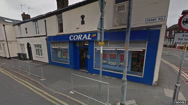 Coral bookmakers, Derby Road, Widnes