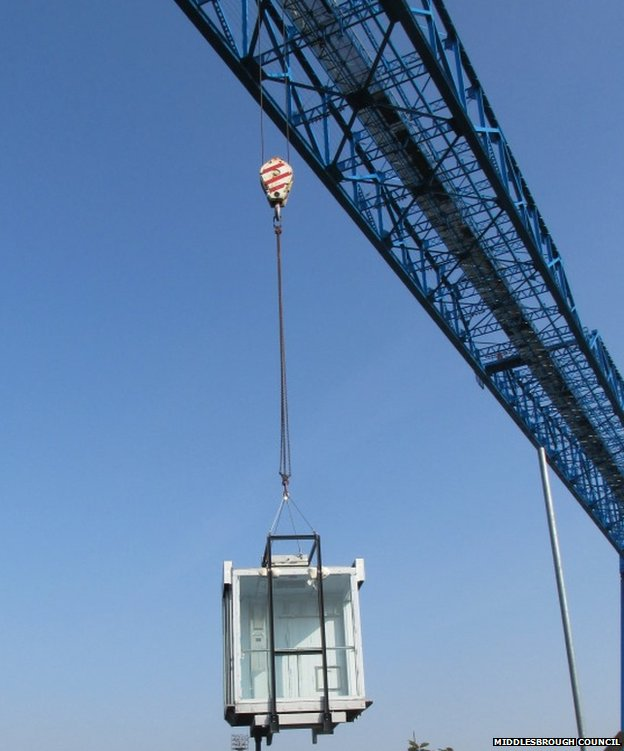 Lift being installed