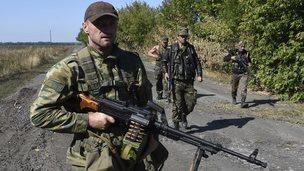 Rebels in eastern Ukraine - file pic