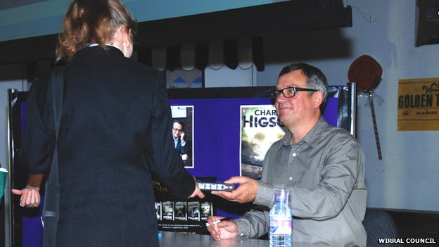 Book signing with Charlie Higson